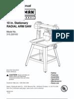 Radial Arm Saw Manual