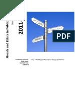 Ethics in Pr2011-2012