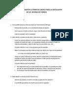 Pasos y Requerimientos a Tener en Cuenta Para La Instalacion de Un Sistema de Turnos