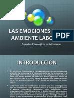 Las Emociones en El Ambiente Laboral