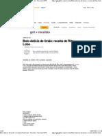 Bolo delícia de limão_ receita de Rita Lobo - Receitas - Receitas GNT