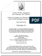 2012 LGBTQ Muslim Retreat Program Book