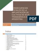 Consecuencias Sociales de La Implantacion de Cultivos de Soja