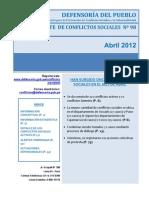 Reporte de Conflictos Sociales N°98 - Abril_2012