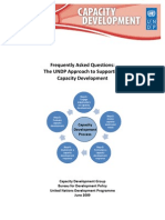 UNDP Frequently Asked Questions on Capacity Development June 2009 With Bookmarks