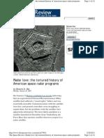 Space Radar History