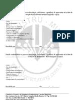 relação de doc  para admissão