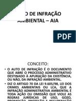 AUTO DE INFRAÇÃO AMBIENTAL – AIA