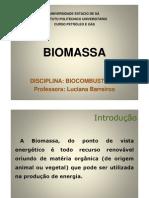 Biocombustíveis - Biomassa