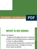 SIX SIGMA Training - In a Nut Shell -1