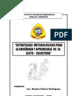 Lectoescritura - Propuesta Del MED
