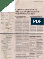 Científicos identifican 53 nuevos sitios prioritarios de conservación en Chile