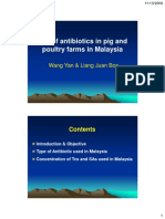 Antibiotics on Pultry