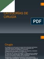 CATEGORÍAS DE CIRUGÍA