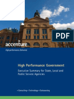 Accenture High Performance Government Executive Summary State and Local