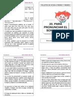 20 PRONUNCIAR SONIDO R
