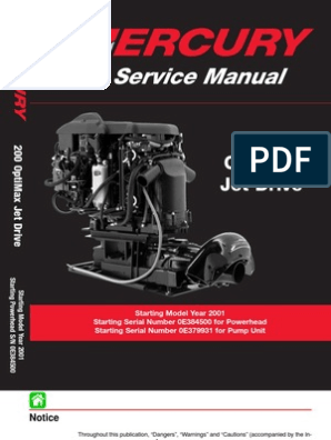 8369382-Mercury Mariner 200hp Optimax Jet Drive Service Manual
