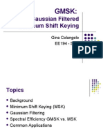 GMSK Gaussian Filtered Minimum Shift Keying