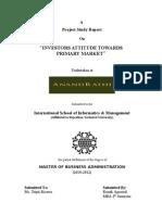 64554415 Investors Attitude Towards Primary Market Brijender