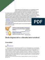 Boala Degenerativa a Discului Inter Vertebral Nu Este o Boala Propriu