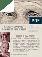 9 Sx de Maltrato y Abuso en El Anciano Mayor