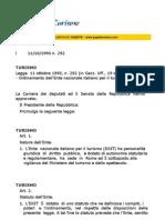 Legge Nazionale Turismo ENI11X90