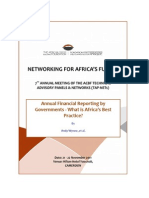 Government Financial Reporting - What is Africa's Good Practice - November 2011