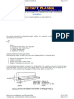 Welding Electrode Filter Metal Calculation