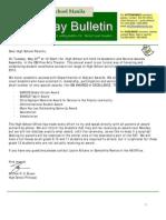 HS Friday Bulletin 05-18