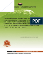 Experience of MTEF and IFMIS Reforms in Sub-Saharan Africa – What is the Balance Sheet?