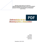 FISIOPATOLOGIA ENFERMEDADES HEMATOPOYETICAS