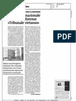 """PALAZZO DI GIUSTIZIA A RISCHIO - Il Consiglio Nazionale dell'ordine forense """"Tribunale Virtuoso"""""""