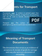 Documents for Transport