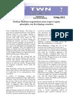 Third World Network – Bonn Update #7 - Equity in the Durban Platform