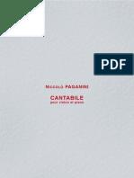 Paganini Cantabile - Violin Piano