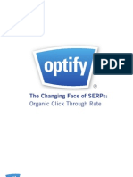 Organic  Search Optimization and CTR Rates
