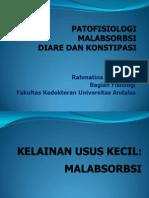 Kuliah 2 Patofisiologi Malabsorbsi Diare Obstipasi
