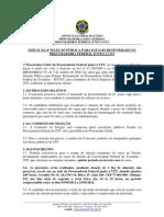 EDITAL DA EDITAL DA 4ª SELEÇÃO PÚBLICA PARA ESTÁGIO REMUNERADO NA PF-UFT_
