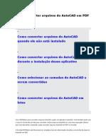 Como Converter Arquivos Do AutoCAD Em PDF