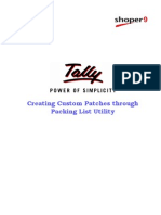 Creating Custom Patches | Tally.NET Services | Tally TDL |  Tally Synchronisation