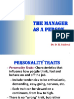Manager as a Person 1