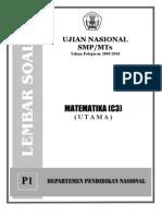 Soal UN SMP Matematika(C3) Tahun 2010