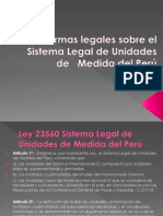 Normas Legales Sobre El Sistema Legal de Unidades