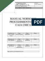 Manual Normas y Procedimientos de Caja Chica