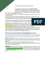 CA Final and PCC Company Audit Part II