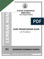 Soal UN SMP IPA(P1) Tahun 2010