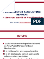 Public Sector Accounting Reform - the Cruel World of Neoliberalism
