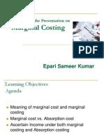 5 Marginal Costing