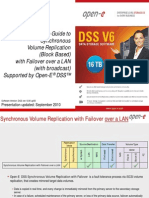 Open-E DSS V6 Synchronous Volume Replication With Failover Over a LAN With Broadcast