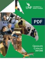 Graduate Catalog 2007-2008